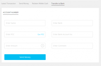 PayTm wallet to bank transfer