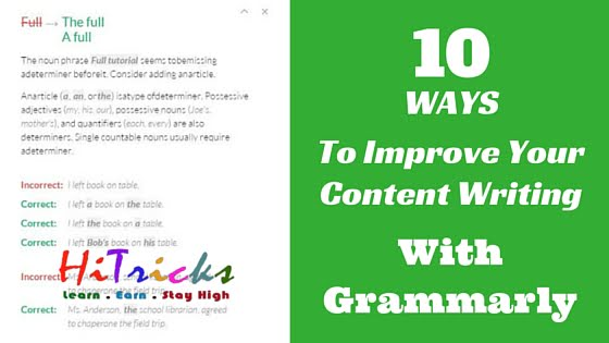 10 Ways to Boost your Blog Content Writing with Grammarly