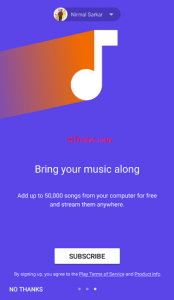 Google Play Music Unlimited All Access Subscription for Rs89 pm launched in India