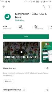 Meritnation app
