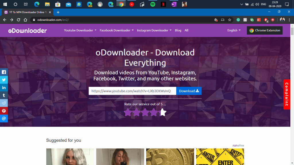 ODownloader - Home Page