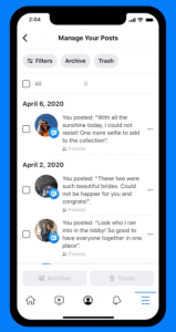How To Archive Old Facebook Posts with 'Manage Activity' Tool?