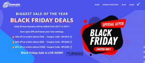 Domain Registration & Transfer Deals Black Friday 2020