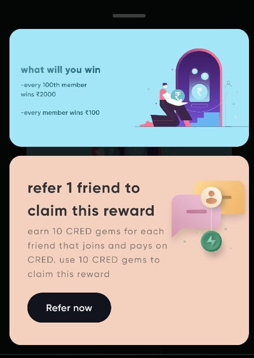 cred app refer 1 friend