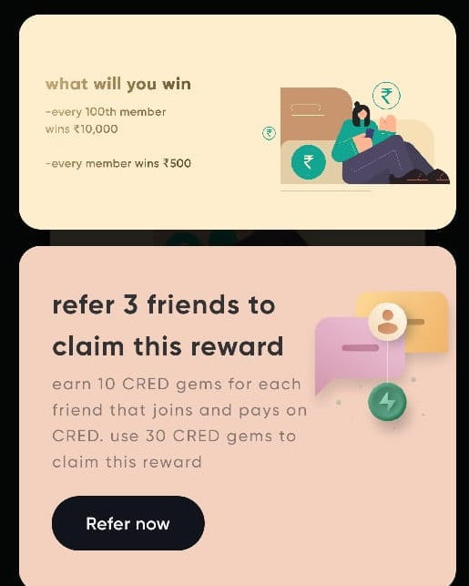 cred app refer 3 friends
