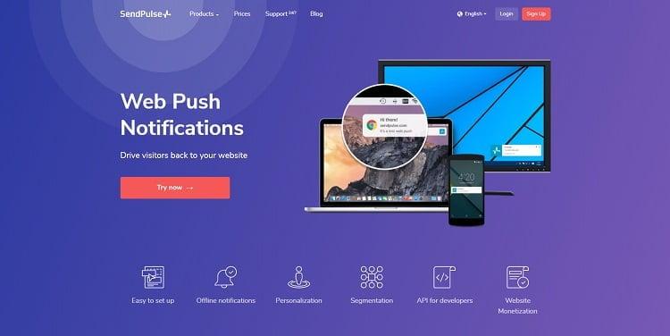 Sendpulse push notification plugin for wordpress