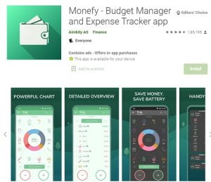 Monefy expense manager app