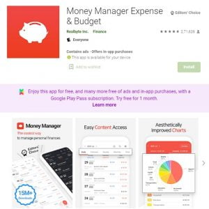 Money Manager expense manager app