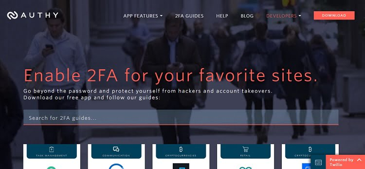authy 2FA app