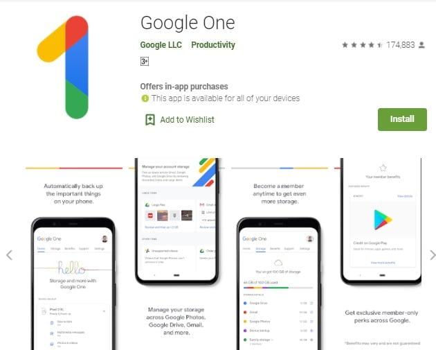 google one online storage app