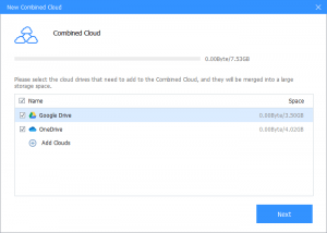Cbackup combined cloud