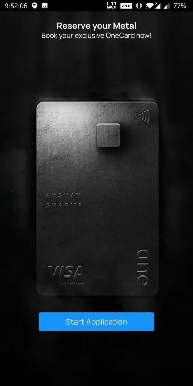 onecard lite start application