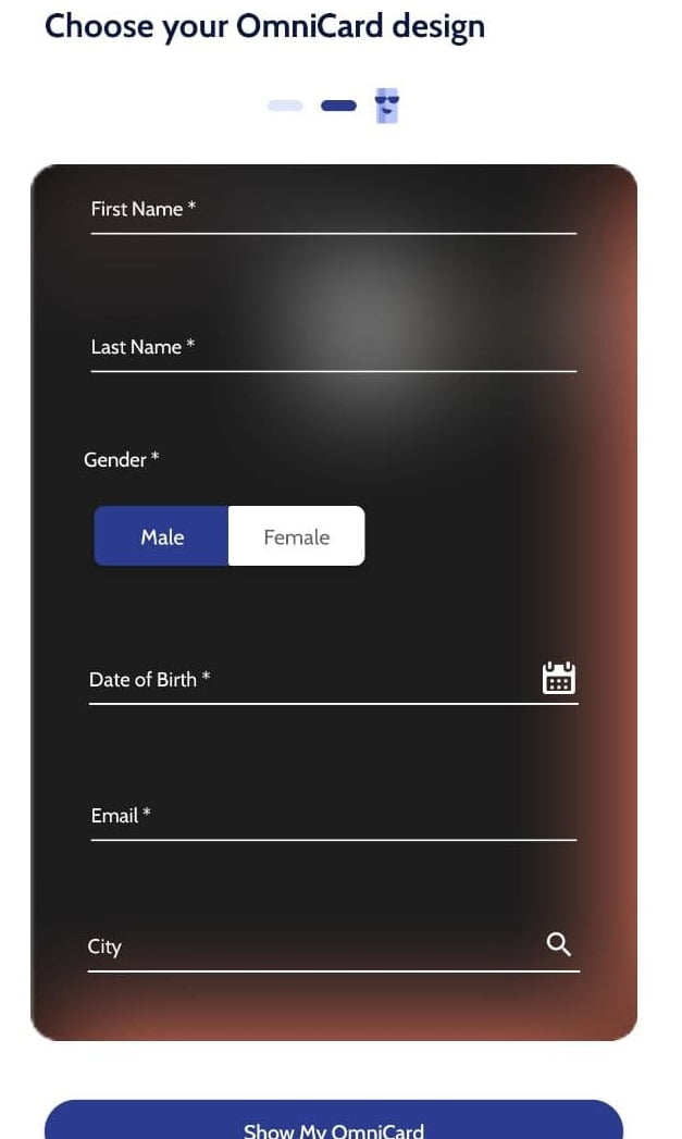 omnicard signup process