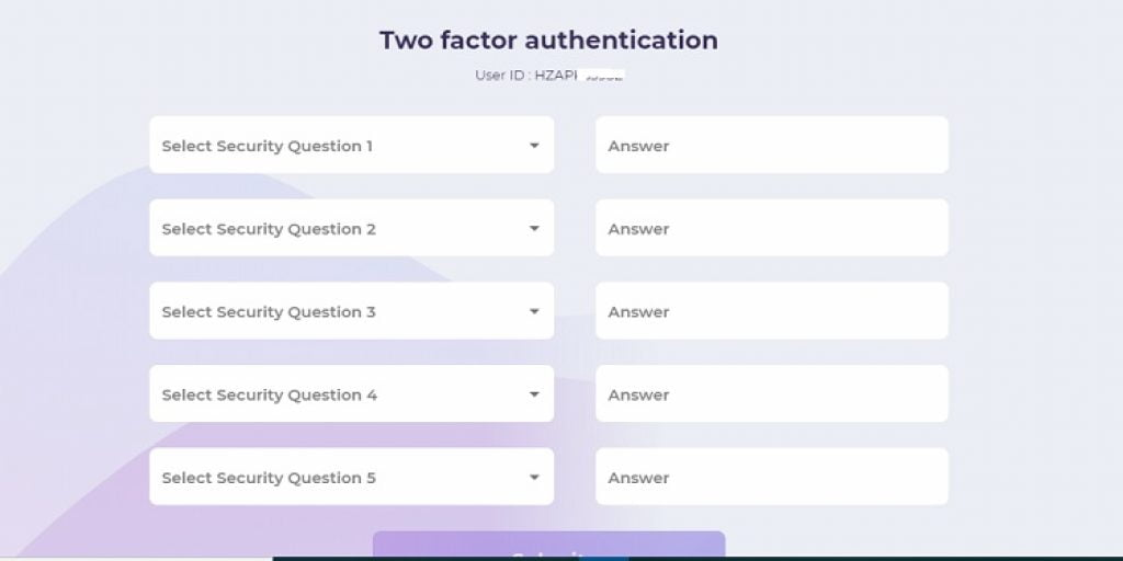 mfcentral account two factor