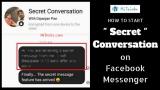 How to start a Secret Conversation on Facebook Messenger?