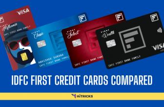 IDFC Millennia Vs Classic Vs Select Vs Wealth Credit Card Compared