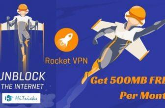 RocketVPN: Get Free 500MB High-Speed VPN Per Month